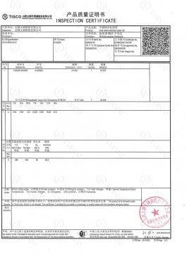 304SS inspektionsattest