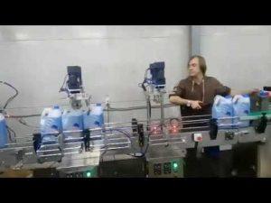 automatisk korrosivt toiletrenser desinfektionsmiddel fyldemaskine linje med flydende blegemiddel