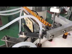 automatisk 5-30 ml glasdråber lille flaske øjendråbe hætteglas e væske fylde afdækningsmaskine