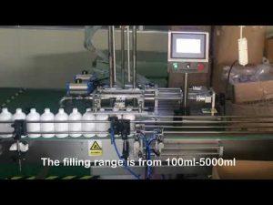 automatisk 2-dyseservoshampoo-flaskepåfyldningsmaskine