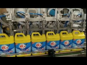automatisk 8 hoveder vaskemiddel shampoo flaske fyldemaskine