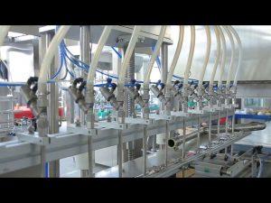desinfektionsmiddel flydende hånd sæbe alkohol flaske påfyldningsmaskine