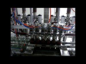 lineær automatisk 4 hoveder stempelflaske tyktflydende ketchup sauce flydende pakning maskine