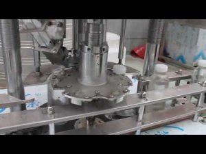 automatisk enkelthoved plastflaske roterende afdækningsmaskine