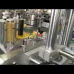 automatisk selvklæbende mærkatmaskine med plast og glasflaske